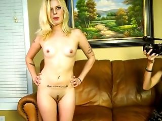 Amateur, Ass Licking, Babe, Blonde, Casting, Couch, Cum, Cum Swallowing, Cute, POV,