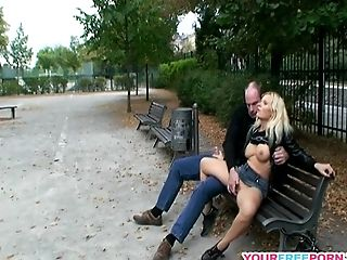 Blonde, Clothed Sex, Couple, Cute, Fingering, Fucking, Hardcore, Horny, Nature, Outdoor,