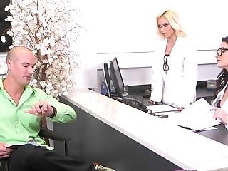 Dick, FFM, Fondling, Glasses, Handjob, Nurse, Teen, Threesome, Uniform,