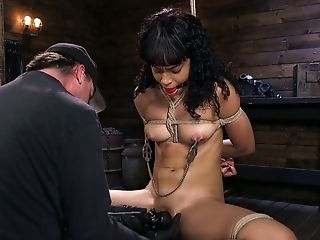Ass, BDSM, Beauty, Black, Bondage, Boobless, Clit, Dildo, HD, Punishment,