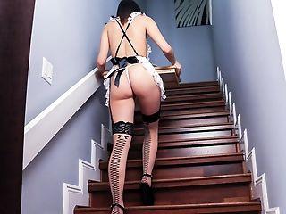 Ass, Big Ass, Bondage, Brunette, Cute, Fetish, Gorgeous, Maid, Rough, Russian,