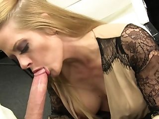 Big Tits, Blonde, Blowjob, Couple, Doggystyle, Fake Tits, Fishnet, Hardcore, Holly Heart, Lingerie,