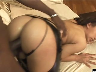 Aurora Jolie, Big Tits, Black, Bra, Couple, Interracial, Latina, Leather, Sexy,