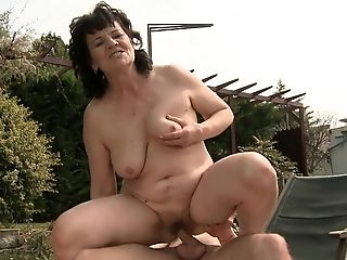 Big Ass, Blowjob, Granny, Hairy, Mature, Old And Young, Redhead, Rough, Short Haired,