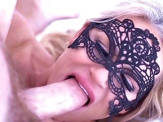 Babe, Big Tits, Blonde, Blowjob, Couple, Cowgirl, Cum In Mouth, Cumshot, Facial, Fishnet,