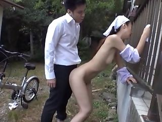 Babe, Couple, Ethnic, Hardcore, Japanese, Natural Tits, Nature, Outdoor, Skinny,