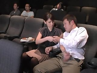 Blowjob, HD, Japanese, Michelle Rica, Naughty, Public, Theater,