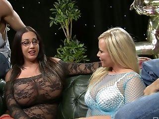 Ass, Big Tits, Blowjob, Cumshot, Curvy, Cute, Emma Butt, Facial, Group Sex, Handjob,