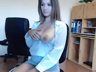 Boss, Couple, Miniskirt, Natural Tits, Office, Pussy, Secretary, Seduction, Webcam,