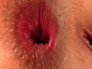 Ass, Brunette, Clit, Close Up, Dildo, Hairy, Jerking, Panties, Pornstar, Pussy,