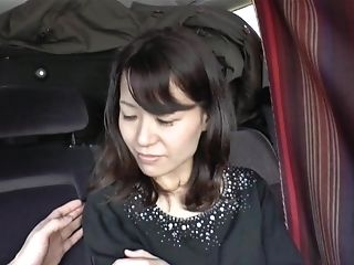 Brunette, Car, Couple, Japanese, Mature, MILF, Nylon, Pantyhose, Sex Toys, Vibrator,