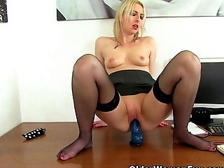 Anal Sex, British, Game, Lingerie, Mature, MILF, Secretary, Stockings, Tracey Lain,