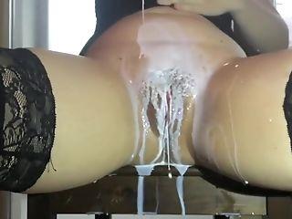 Cute, Dildo, European, Fetish, Fucking, Juicy, MILF, Milk, Pussy, Sex Toys,