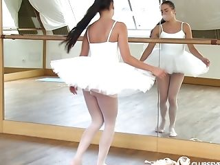 Ass, Ballerina, Beauty, Boobless, Cute, Fingering, Lingerie, Long Hair, Masturbation, Moaning,