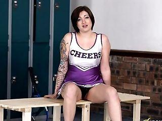 Ass, Beauty, Brook Scott, Brunette, Cheerleader, Cute, Exhibitionist, Horny, Jerking, Locker Room,