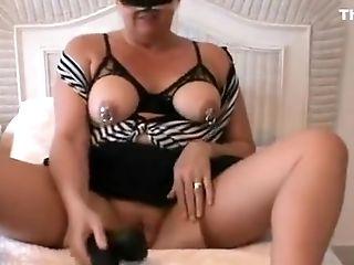 Amateur, BBW, Big Tits, Blonde, Masturbation, Mature, Piercing, Sex Toys, Solo,