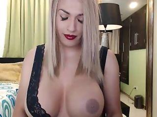 Big Cock, Big Tits, Masturbation, Shemale, Solo, Webcam,