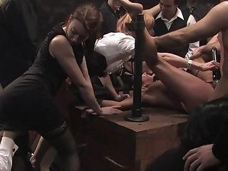 насилие, анальный секс, БДСМ, связывание, брюнетки, брутальное, Cecilia Vega, экстремальное, групповой секс, хардкор,