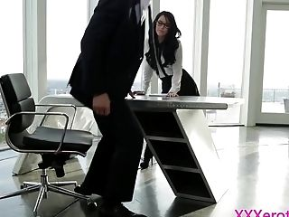Blowjob, Boss, Desk, Facial, HD, Office, Secretary,