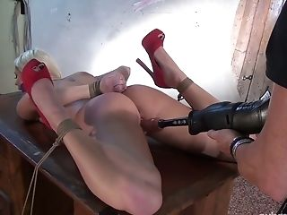 BDSM, Big Tits, Blonde, Bondage, Dildo, Dungeon, Hairy, Punishment, Pussy, Sex Toys,