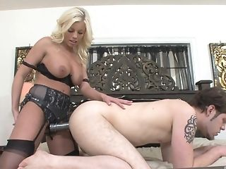 Blonde, Britney Amber, Fetish, MILF, Pegging, Sex Toys, Shower, Strapon,