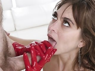 Babe, Ball Licking, Blowjob, Couch, Cowgirl, Cum In Mouth, Cumshot, Gloves, Hardcore, HD,
