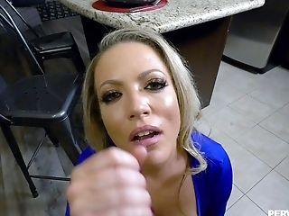 Big Cock, Blonde, Blowjob, Carmen Valentina, Cum, Cumshot, Doggystyle, Facial, FFM, Handjob,