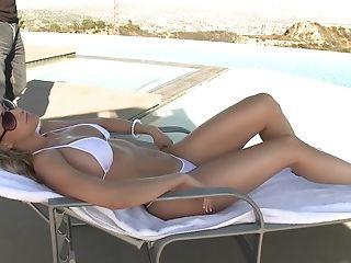 Big Tits, Bikini, Blonde, Boss, Brandi Love, Licking, Mature, MILF, Pornstar, Pussy,