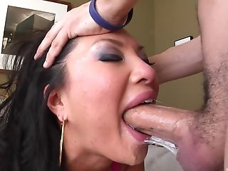 Asa Akira, Babe, Bra, Couple, Cum In Mouth, Cum Swallowing, Cum Swapping, Cumshot, Deepthroat, Dick,