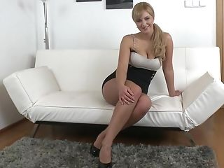 Audition, Babe, Blonde, Bold, Casting, Couch, Cute, European, Horny, Legs,