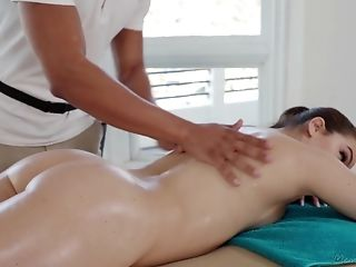 Babe, Blowjob, Brunette, Couple, Cute, Hardcore, Massage,