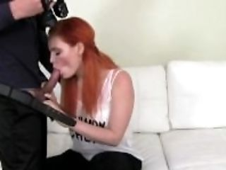 Amateur, Audition, Blowjob, Casting, Cumshot, Dick, Ginger, HD, Homemade, Milk,