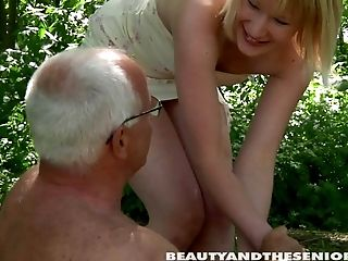 Blonde, Couple, Cowgirl, Cunt, Dick, Face Fucking, Forest, Hardcore, Licking, Missionary,