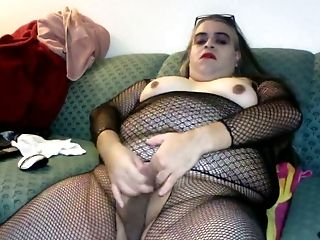 Bodystocking, Fat, Fishnet, Jerking, Shemale, Tranny, Ugly,