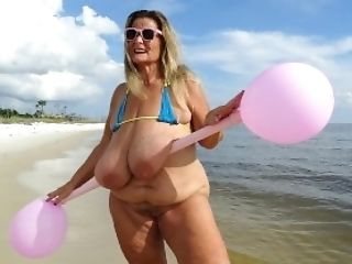 Beach, Big Ass, Big Tits, Bikini, Blonde, Clamp, Curvy, Feet, Fetish, Mature,