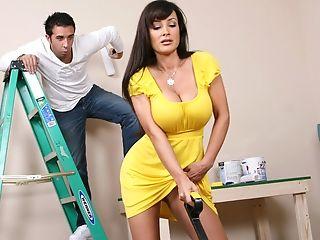 Big Tits, Brunette, Homemade, Housewife, Huge Tits, Licking, Lisa Ann, MILF, Mom, Tanned,