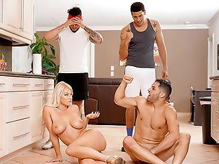 American, Ass, Babe, Big Tits, Blonde, Blowjob, Caucasian, Creampie, Dick, Flexible,